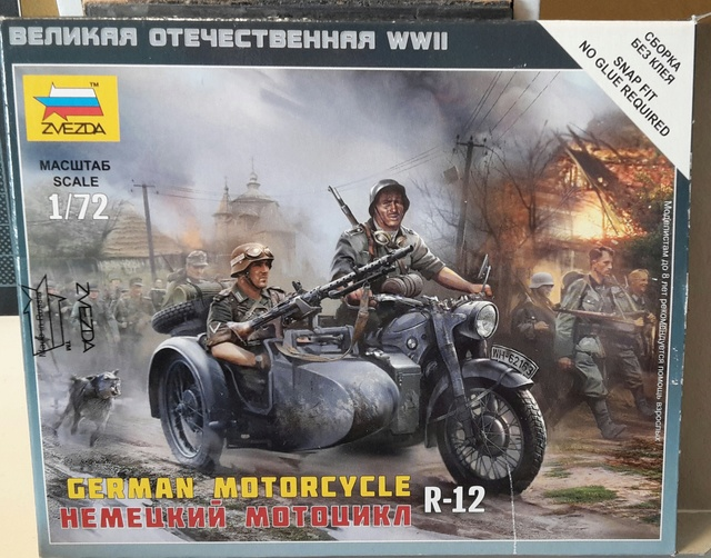 Side-car R-12 Afrika Korps 1942 (Zwezda 1/72) 20171011