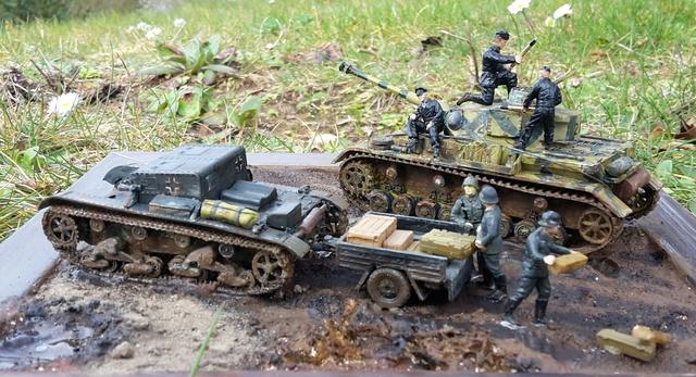 AUFTANKEN (ravitaillement)-Pz.Kpfw 4 + T-26(r) transport de munitions - Russie 1942 - 1/72 Auftan12
