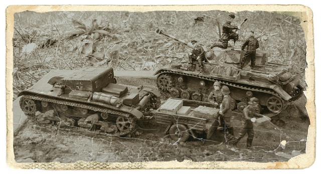 AUFTANKEN (ravitaillement)-Pz.Kpfw 4 + T-26(r) transport de munitions - Russie 1942 - 1/72 Auftan13