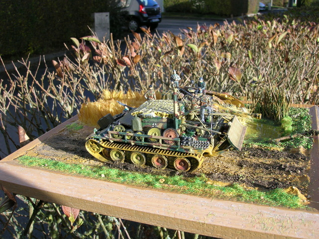 Eine helfende Hand, Hans ? (un coup de mains  Hans ?) - Panther et Stug III Revell 1/72 FINI ! Dioram14