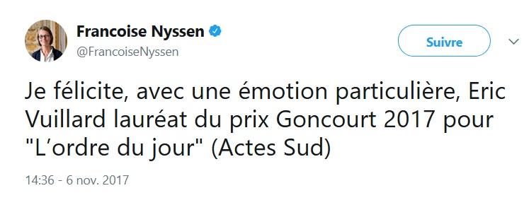 Goncourt 2017 - La bonne fortune de la ministre  Goncou10