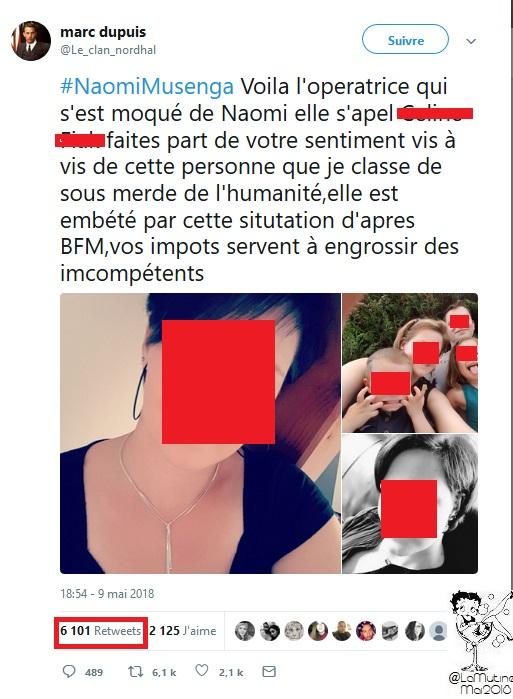 """Naomi -  """"@Le_clan_nordhal est toujours actif -5 jours que TwitterFrance complice du lynchage Naomi_15"""