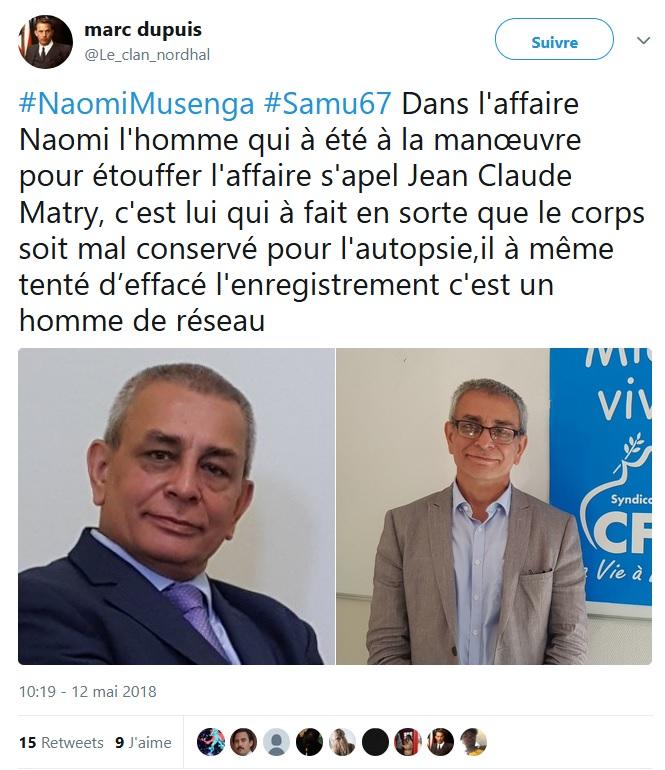 """Naomi -  """"@Le_clan_nordhal est toujours actif -5 jours que TwitterFrance complice du lynchage Naomi_16"""