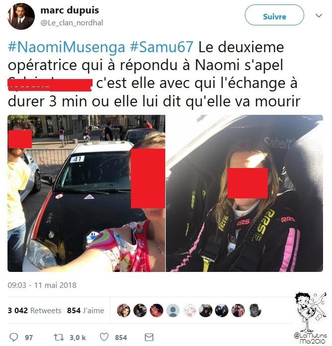 """Naomi -  """"@Le_clan_nordhal est toujours actif -5 jours que TwitterFrance complice du lynchage Naomi_17"""