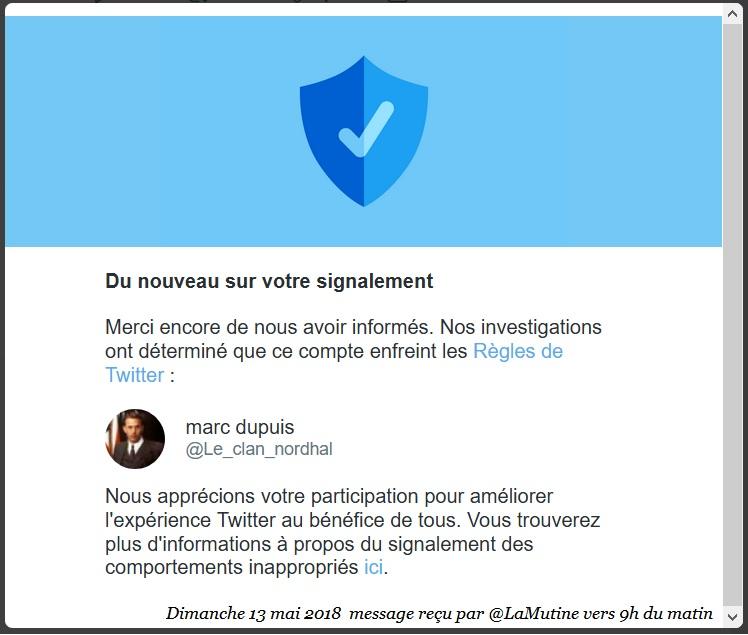"""Naomi -  """"@Le_clan_nordhal est toujours actif -5 jours que TwitterFrance complice du lynchage Naomi_23"""