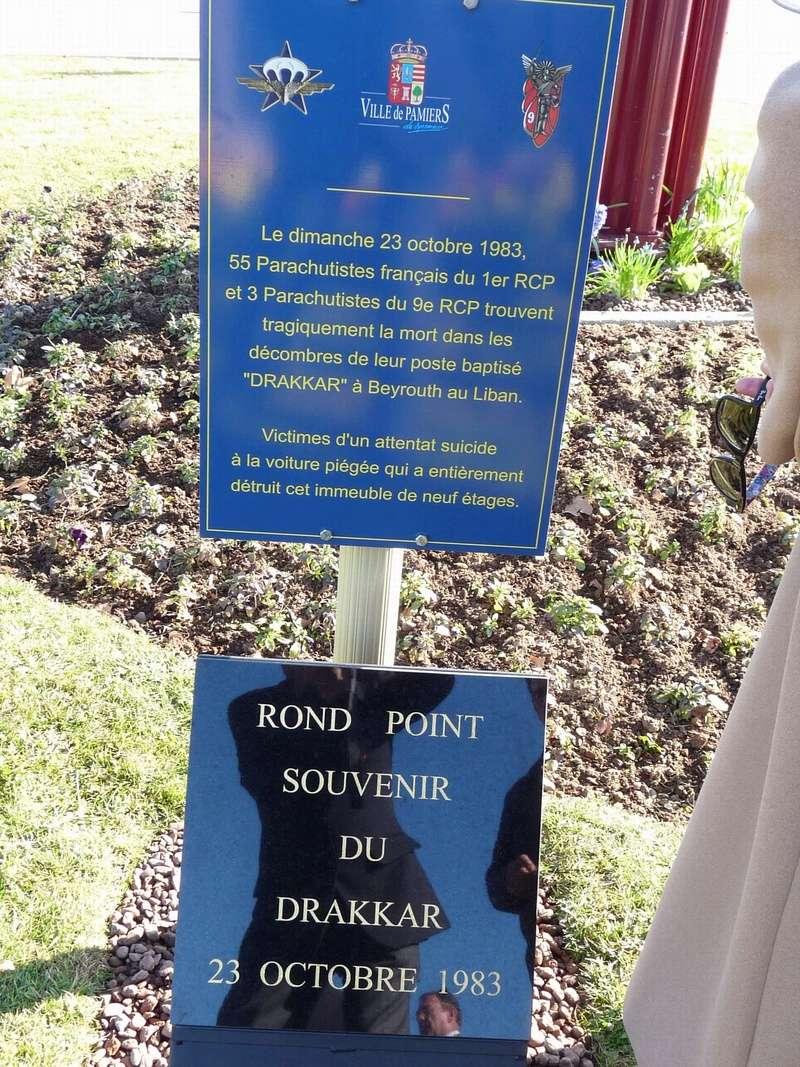 Commémoration de l'attentat du Drakkar à Pamiers 2017 P1020210