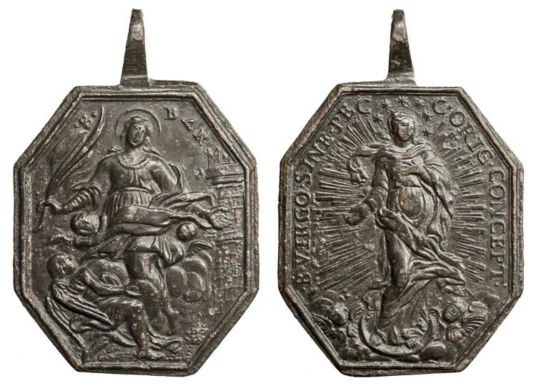 Santa Barbara / Inmaculada S. XVIII, (R.M. SXVIII-P104) Barbar10