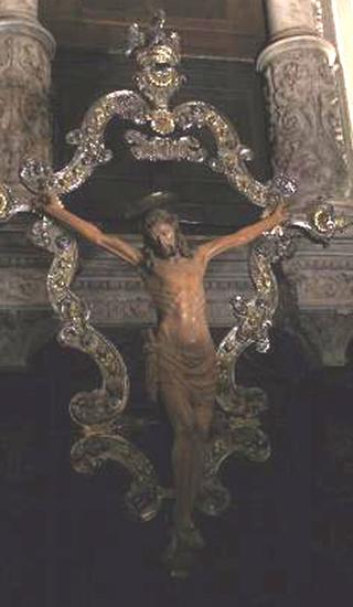 Crucifijo scuola Grande di San Rocco / San Roque , S. XVII (R.M. SXVII-O471  ) Crocif11