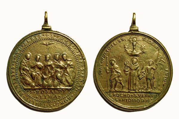 Santos Canonizados en 1671 / Santos Roque  Antonio de Padua y Venancio de Camerino 1671 (R.M SXVII-C82) S-xvii10