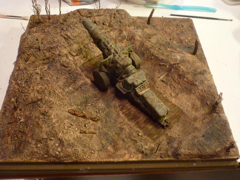 Préparatif emplacement de tir - 155mm Howitzer Airfix 1/35 P1080920