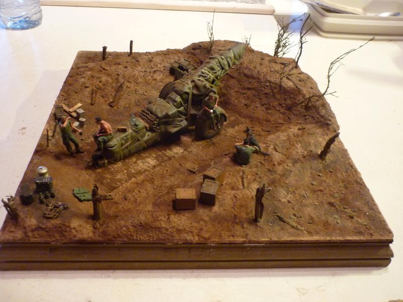 Préparatif emplacement de tir - 155mm Howitzer Airfix 1/35 P1080927