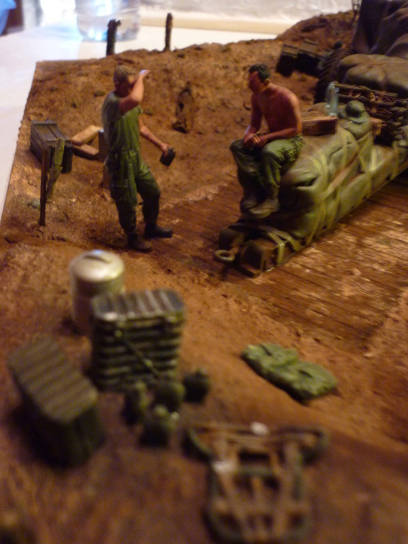 Préparatif emplacement de tir - 155mm Howitzer Airfix 1/35 P1080930