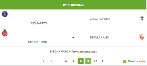 8 Jornada (Grupo B) 8b10