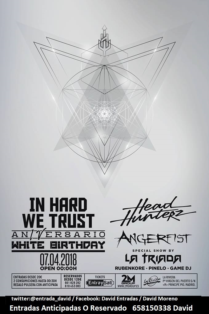 07/04: IN HARD WE TRUST #LARIVIERA ENTRADAS ANTICIPADAS Y RESERVADO 658150338 David In_har10
