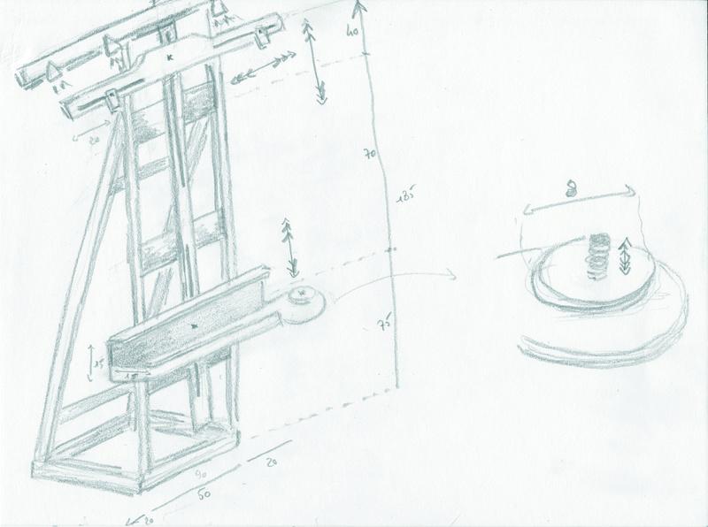 Aide pour réalisation d'un chevalet d'atelier pour peintre Cheval10