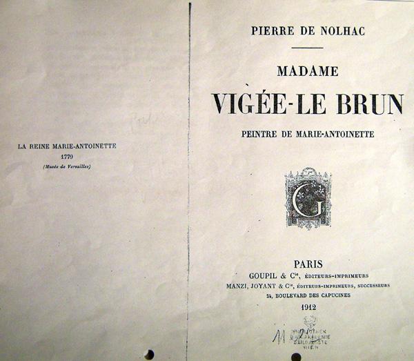 Marie-Antoinette. Les livres de Pierre de Nolhac T_vige10