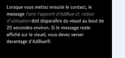 AdBlue : consommation, message d'alerte.... Adblue11