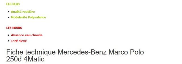 Essai Mercedes Marco Polo 250D 4MATIC - Van Magazine 10/2017 Essai10
