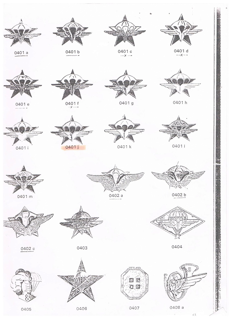 estimation de 6 insignes 1RCP divers fabricant 00112