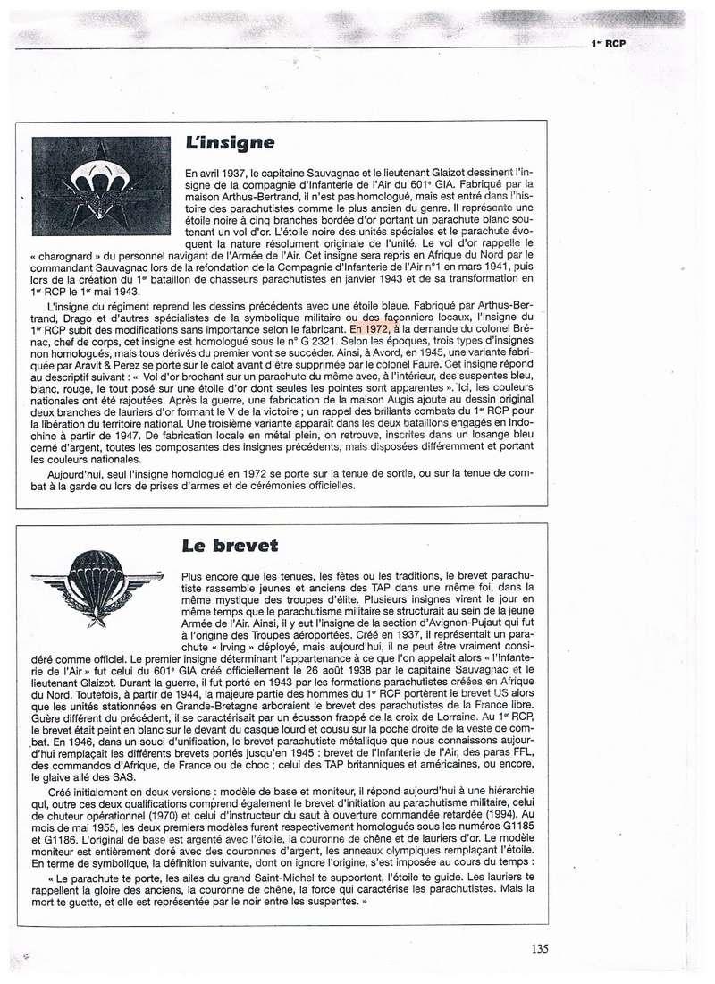 estimation de 6 insignes 1RCP divers fabricant 001_311