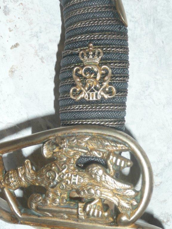 sabre prussien sous Guillaume II de Prusse  00910