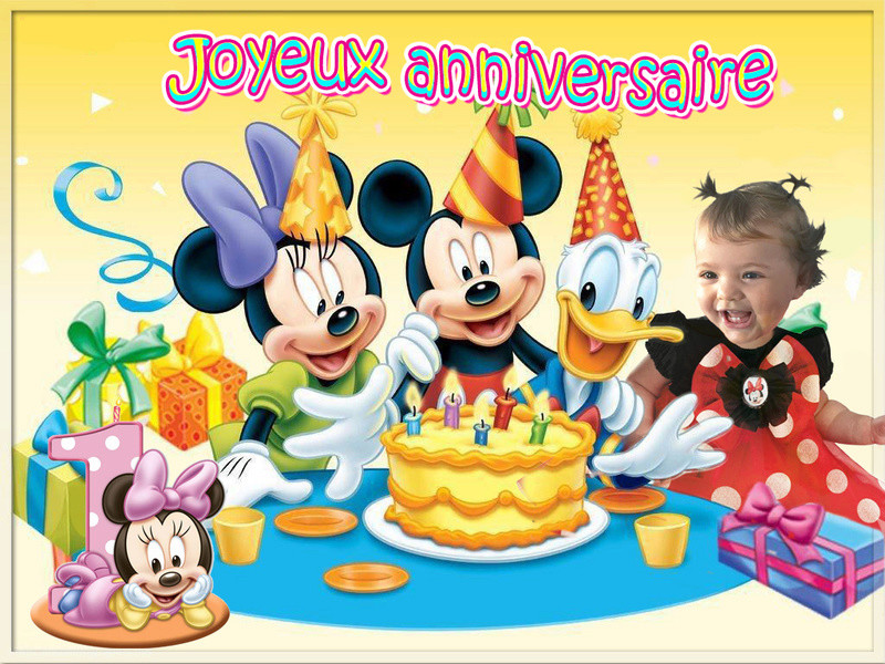 montage anniversaire theme minnie 1 an 4aac0d10