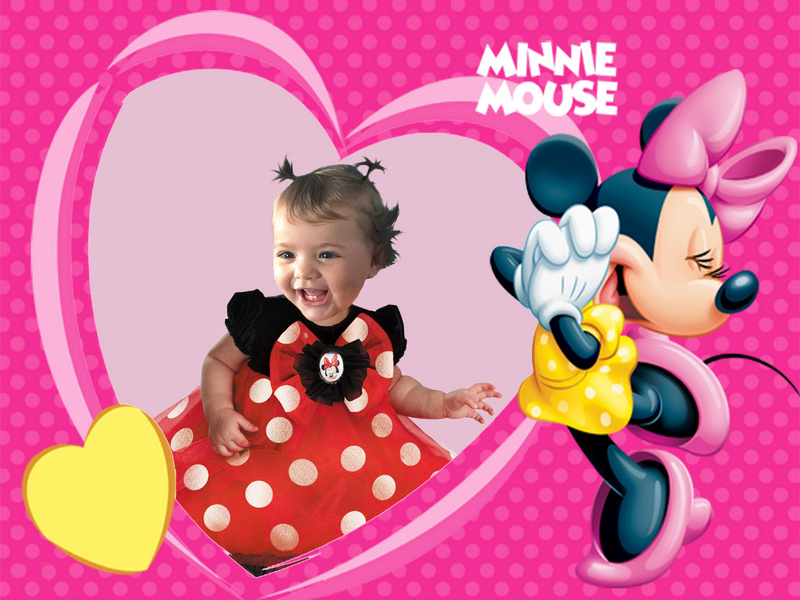 montage anniversaire theme minnie 1 an Minnie10