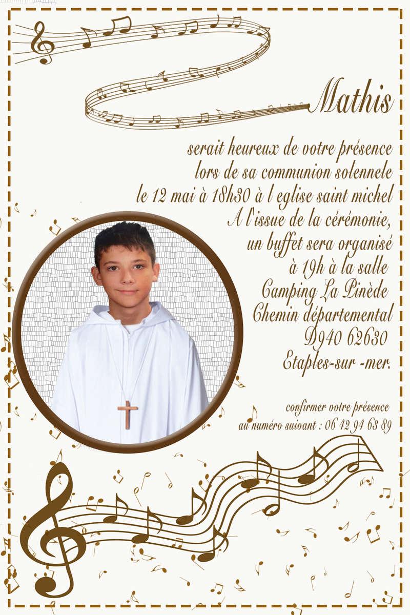 Invitation communion  Rond-112