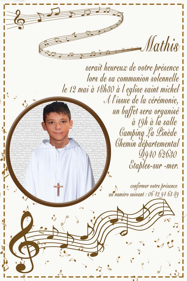 Invitation communion  Ronds10