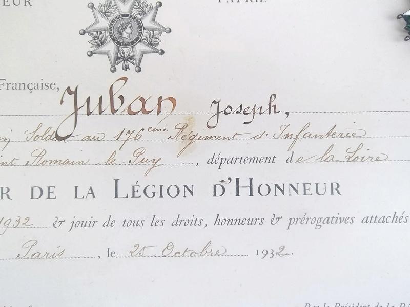 Cadre légion d' honneur du 176 ème d' infanterie  100_1155