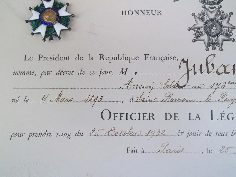 Cadre légion d' honneur du 176 ème d' infanterie  100_1156