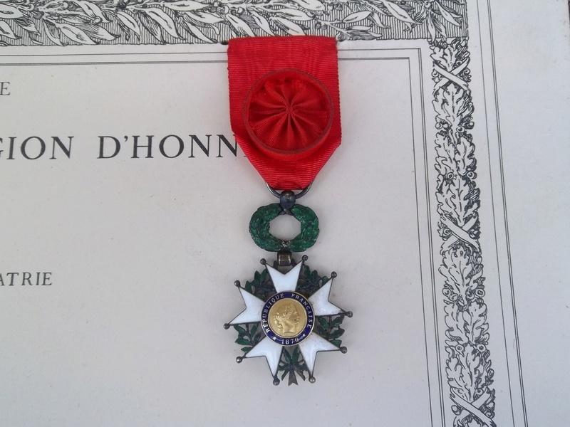 Cadre légion d' honneur du 176 ème d' infanterie  100_1157