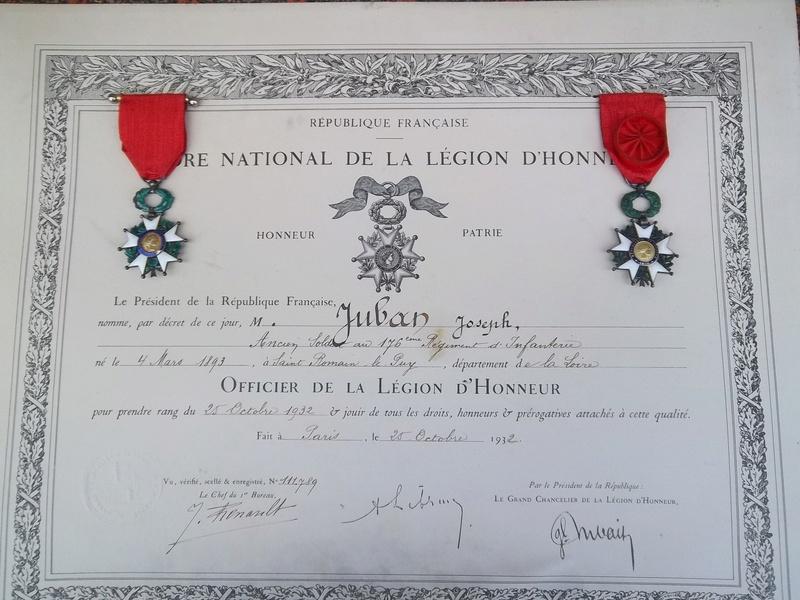Cadre légion d' honneur du 176 ème d' infanterie  100_1159