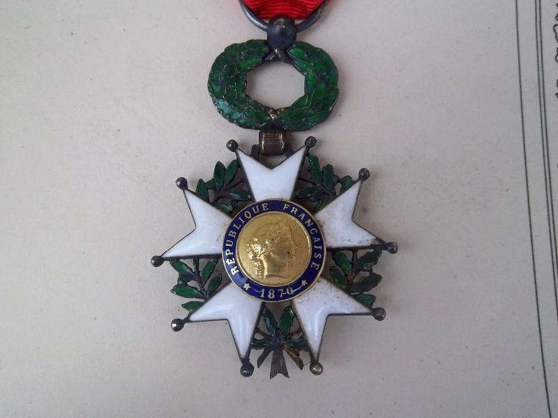 Cadre légion d' honneur du 176 ème d' infanterie  100_1160