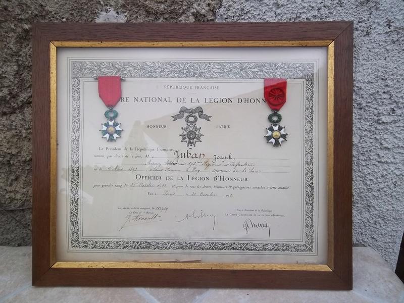 Cadre légion d' honneur du 176 ème d' infanterie  100_1163