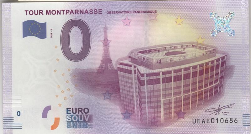 Billets 0 € Souvenirs  [Paris = 81] Numyri14
