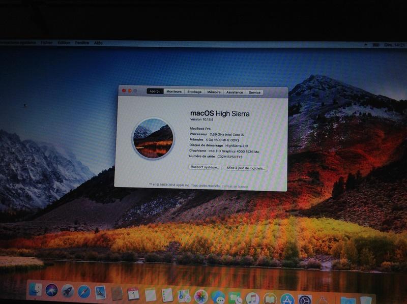 [résolu]OSX 10.13.4 sur HP 6470b Img_0411