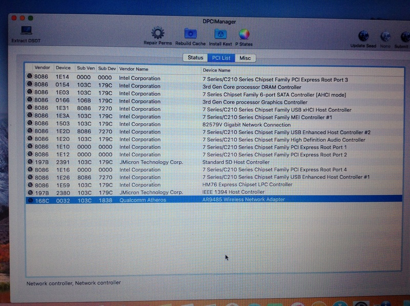 [résolu]OSX 10.13.4 sur HP 6470b Img_0413
