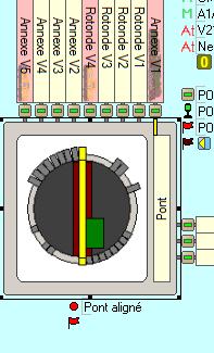 Assignation des voies d'une plaque tournante Pont210