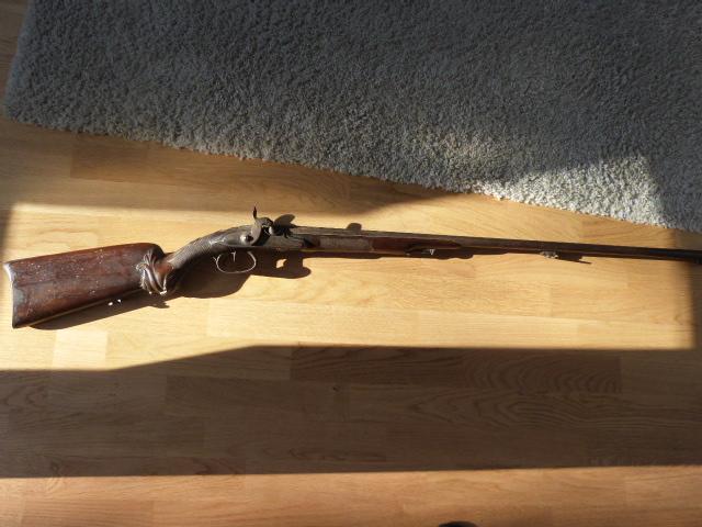 Ancien fusil chasse XIX luxe P1030718