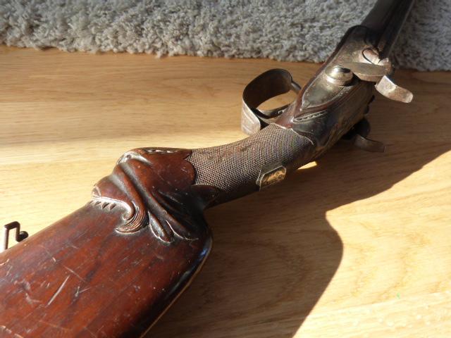 Ancien fusil chasse XIX luxe P1030719