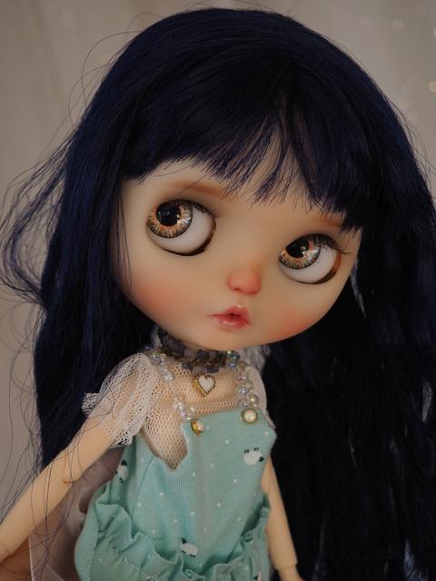 VTE- ECHGE ~ Blythe custom Blue Curly babe Pb140810