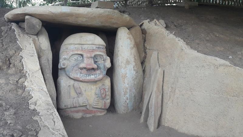 Le 10.02.2018 San Augustin (site classé au patrimoine mondial par l'UNESCO). 20180252