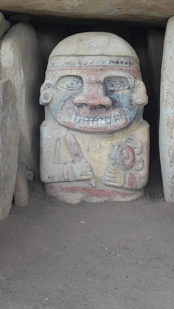 Le 10.02.2018 San Augustin (site classé au patrimoine mondial par l'UNESCO). 20180254