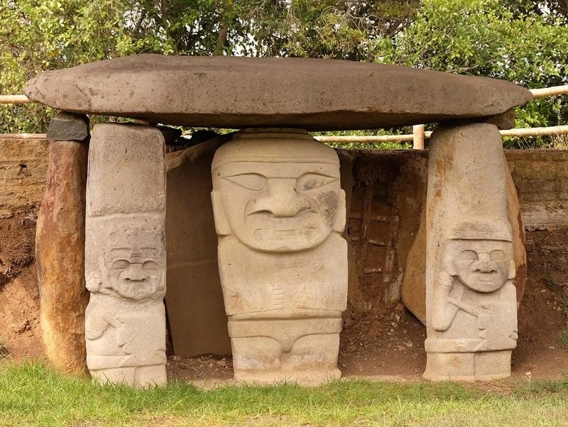 Le 10.02.2018 San Augustin (site classé au patrimoine mondial par l'UNESCO). Dscf4213