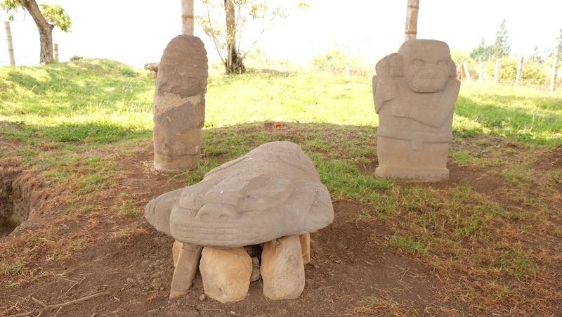 Le 10.02.2018 San Augustin (site classé au patrimoine mondial par l'UNESCO). Dscf4219