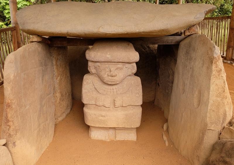 Le 10.02.2018 San Augustin (site classé au patrimoine mondial par l'UNESCO). Dscf4319