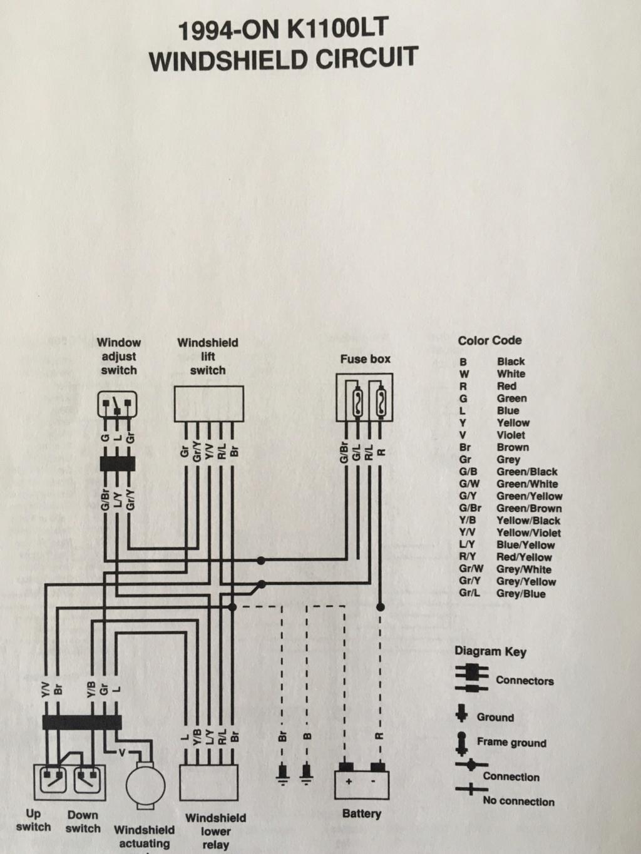 1992 K1100LT Crashpad switches 48be3710