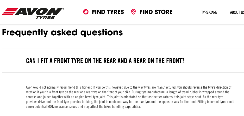 The Disappearing K1100LT tires Avon_t10