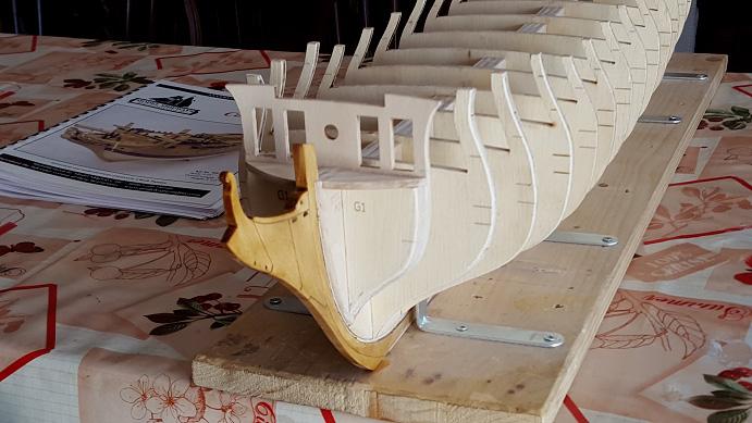 La Confederacy de 1772 au 1/64 par Model Shipways Biseau10